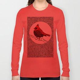 A Red Cardinal Long Sleeve T-shirt