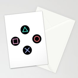 Play with Playstation Controller Buttons Stationery Cards