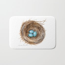 Life is Fragile by Teresa Thompson Bath Mat