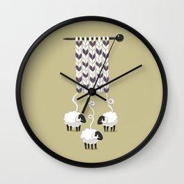Wool Scarf Wall Clock