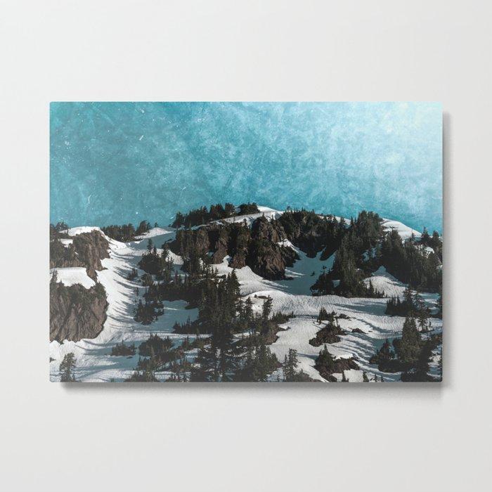 Mountain Morning Dew Metal Print