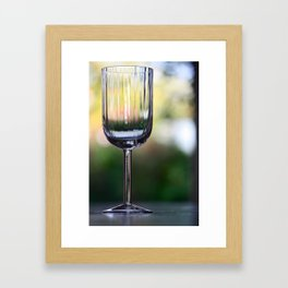 Wine Glass Framed Art Print