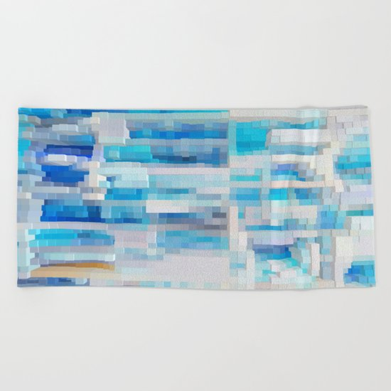 Abstract blue pattern 2 Beach Towel