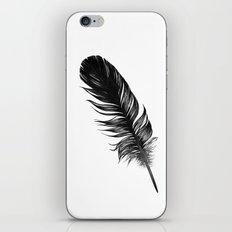 Black Feather iPhone & iPod Skin