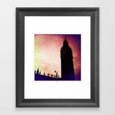 Big Ben & bird Framed Art Print