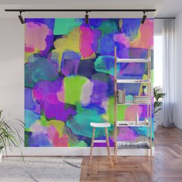 Brushstroke Blue Wall Mural