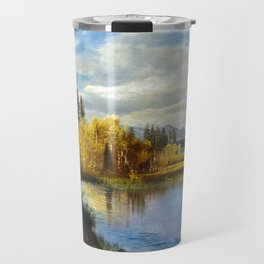 Albert Bierstadt Outlet at Lake Tahoe Travel Mug