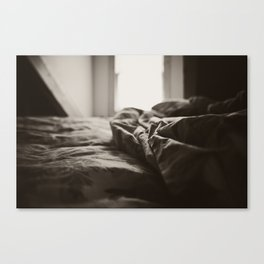 The messy bed Canvas Print