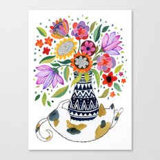 Calico Bouquet Canvas Print