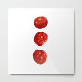Vegetable tomatoes for the kitchen, Tomato poster Kitchen-art Metal Print