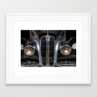bmw Framed Art Prints featuring Old BMW by Cozmic Photos