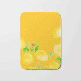 Lemons on Mustard Yellow Bath Mat
