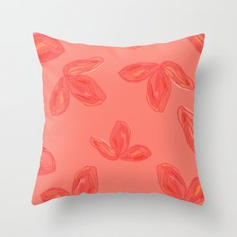 flowers pink and coral Throw Pillow