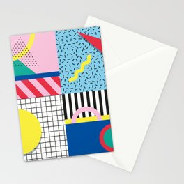 Memphis Party Stationery Cards