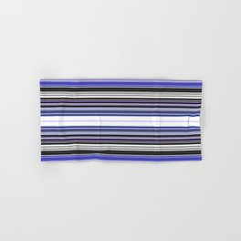 Bright bold Blue And Purple Stripe Hand & Bath Towel