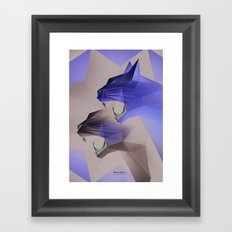 Geometric Cats Framed Art Print