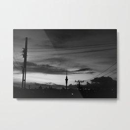Skytower B&W Metal Print