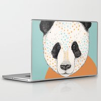 suits Laptop & iPad Skins featuring Polkadot Panda by Sandra Dieckmann