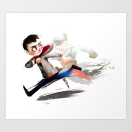 Run, you clever boy Art Print