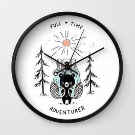 Adventure Bear Wall Clock
