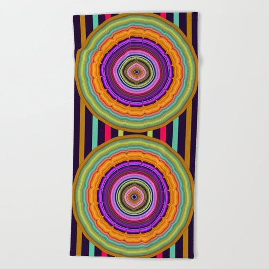 Colourful Pattern Mandala Beach Towel