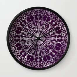 Rosette Window - Violet Wall Clock