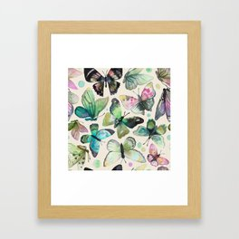 watercolor butterflies Framed Art Print