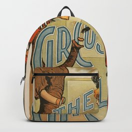 The Circus Girl vintage poster Backpack