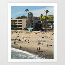 San Buenaventura State Beach III Art Print