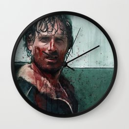 Don't Mess WIth Rick Grimes - The Walking Dead Wall Clock