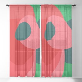 Colors III – Contemporary Abstract Maximalism Illustration Sheer Curtain