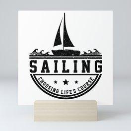 Sailing Sailing Ship Sailing Yacht Sail Gift Boat Mini Art Print