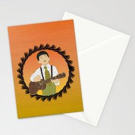 Ukulele musician Stationery Cards