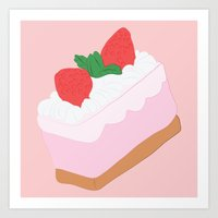 cake Art Prints featuring Cake by Inbeeswax