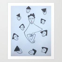 Haman and his sons Art Print