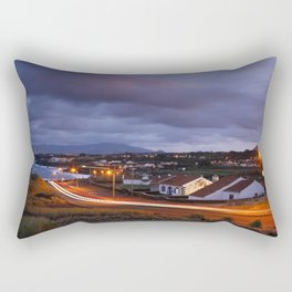 Village in twilight Rectangular Pillow