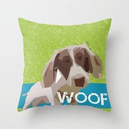 """""""WOOF"""" ~ Dachshund, Weiner Dog, Doxie, everywhere! Throw Pillow"""