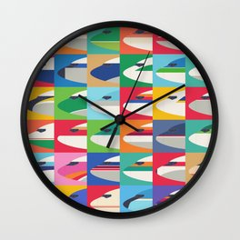 Retro Airline Nose Livery Design - Grid Small Wall Clock