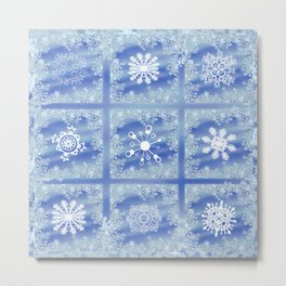 Frosted Panes Metal Print