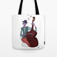 cello Tote Bags featuring Smooth Cello by Erin Eng
