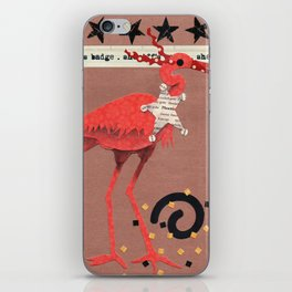 Birds Wearing Clothes - Sheriff's Badge iPhone Skin