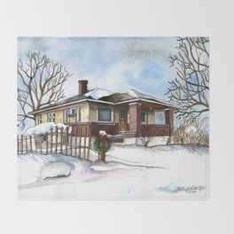 A Bungalow in the Country Throw Blanket