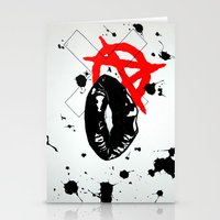 anarchy Stationery Cards featuring Anarchy by Mike Lampkin