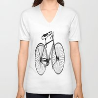 copenhagen V-neck T-shirts featuring Copenhagen  by PaperandPaintbrush