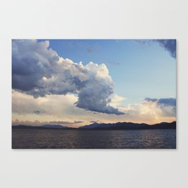 Rain clouds over Whiteface Canvas Print