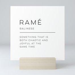 Ramé Definition Mini Art Print