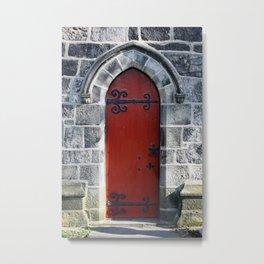 Red Door #4.2 Metal Print