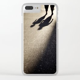 People walking Clear iPhone Case