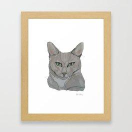 My Cat Carlos Framed Art Print