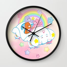 vintage Care Bears Cloud Car Wall Clock